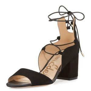 Sam Edelman NWOB Serene Suede Lace Up Block Heels